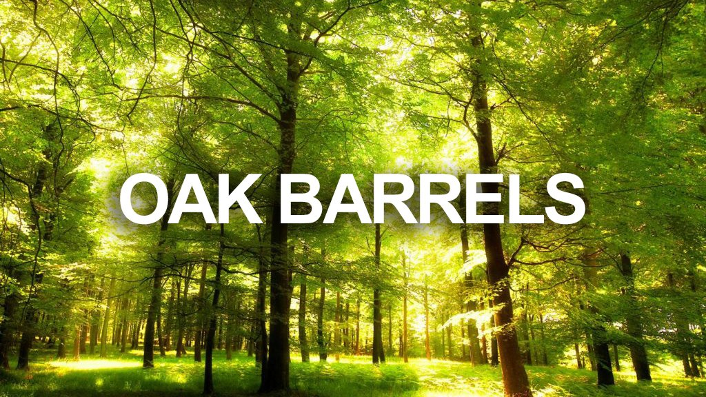 The Wine Cellar has Oak Barrels